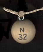 BINGO BALL NECKLACE-Retirement Gag Gift Lucky Charm Game Jewelry