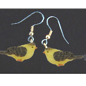 Mini BIRD EARRINGS - Spring Garden Birds Jewelry -J