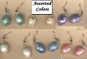 Pastel Bird EGG EARRINGS - Spring Garden Easter Jewelry -1-PAIR