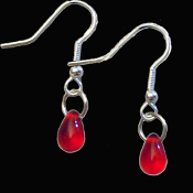 Bite Me - Fang Banger - True Blood Drop VAMPIRE BLOOD DROP EARRINGS Gothic Costume Jewelry Charm Pierced Earrings. Add this fun costume jewelry accessory to your True Blood, Vampire Diaries, Twilight, Dusk Til Dawn party.