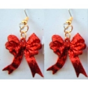 Funky RED GLITTER RIBBON BOW EARRINGS - Valentines Day Christmas Novelty Holiday Costume Jewelry - Sparkle ...  sc 1 st  Team Zebra & Hearts Love Cherub Cupid VALENTINEu0027S DAY Fun Funky Earrings ...