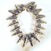 Big Funky Chunky Punk BULLET PEWTER UNISEX BRACELET - Gothic Heavy Metal Rock Costume Jewelry