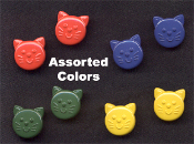 Big Mini CAT FACE POST STUD EARRINGS - Pet Button Jewelry -4-Pair Assorted Color