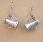 Funky Mini Silver COFFEE POT EARRINGS - Caffeine Drink Charm Jewelry