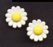 Mini DAISY FLOWER BUTTON STUD EARRINGS - Garden Flowers Miniature Gardener Jewelry -SMALL