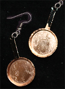 Medium COPPER FRYING PAN EARRINGS - Restaurant Cooking Chef Costume Jewelry