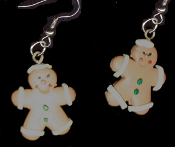 Funky GINGERBREAD MAN SAILOR EARRINGS - Christmas Cookie Dessert Jewelry