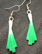 Mini Green Onion Earrings - Herb Garden Vegetable Charm