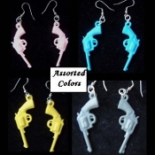 Funky GUNS PISTOLS VINTAGE EARRINGS - Punk Western Jewelry -Assorted- 1-Pair