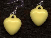 HEART YELLOW PASTEL EARRINGS - Cute Valentines Day Love Charm Jewelry