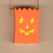 JACK-O-LANTERN TREAT BAG NECKLACE-Cute Halloween Pumpkin Jewelry