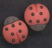 LUCKY LADY BUG BUTTON EARRINGS - Ladybug Garden Insect Luck Charm Jewelry - Small