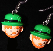 Big LEPRECHAUN EARRINGS - Irish Ireland St. Patrick's Day Lucky Charm Jewelry