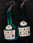 Huge LIQUOR BOTTLE EARRINGS - COURVOISIER Cognac Napoleon Drink Charm Jewelry