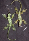 LIZARD / GECKO / IGUANA EARRINGS - Mini Exotic Amphibian / Reptile Jewelry