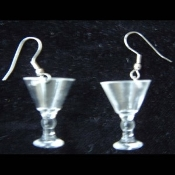 MARTINI GLASSES EARRINGS - Party Drink Glass Charm Jewelry - MINI