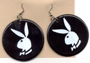 PLAYBOY BUNNY VINTAGE EARRINGS - 60's 70's Collector Charm Jewelry