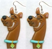 Big Winking SCOOBY DOO EARRINGS - TV Movie Character Jewelry