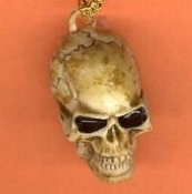 Realistic SKULL KEYCHAIN - Punk Gothic Wizard Witch Doctor Rockabilly Jewelry