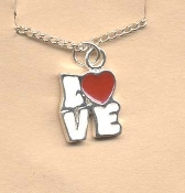 Valentine's Day Charm PENDANT NECKLACE - HEART Love Jewelry -J