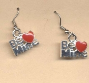 Valentine's Day Charm EARRINGS - HEART Love Jewelry -D