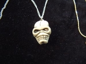 Gothic Pirate ZOMBIE SKULL PENDANT NECKLACE - Headhunter Grim Reaper Cosplay Funky Halloween Costume Jewelry