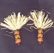 Big Beautiful INDIAN CORN BEAD EARRINGS - Thanksgiving Fall Autumn Harvest - Native American Maize Jewelry