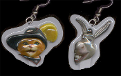 Huge Shrek DONKEY and PUSS'n'BOOTS EARRINGS - Animated Dreamworks Movie Animal Best Friends Jewelry - Big Dimensional Plastic Toy Animation Cartoon Character Charm