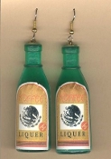 Huge COFFEE LIQUOR BOTTLE EARRINGS - Bartender Bar Party Drink Charm Jewelry
