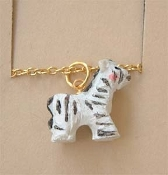 ZEBRA PENDANT NECKLACE-Resin Fun Safari Zoo Animal Charm Jewelry