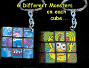 SUDOKU CUBE MONSTER PUZZLE GAME KEYCHAIN - HUGE Rubik Toy Jewelry - Really Works!