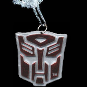 Big Red Metallic AUTOBOTS TRANSFORMERS Optimus Prime Pendant Necklace - Cartoon Movie Hero Costume Jewelry