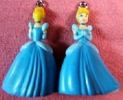 Mini DISNEY PRINCESS EARRINGS - CINDERELLA - Animated Movie Cartoon Jewelry - Classic Miniature 3-dimensional costume jewelry plastic toy charms ornaments. Great gift for anyone waiting for Prince Charming!